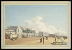 S .E. View of the Board of Trade and Customs House, the Beach, Madras
